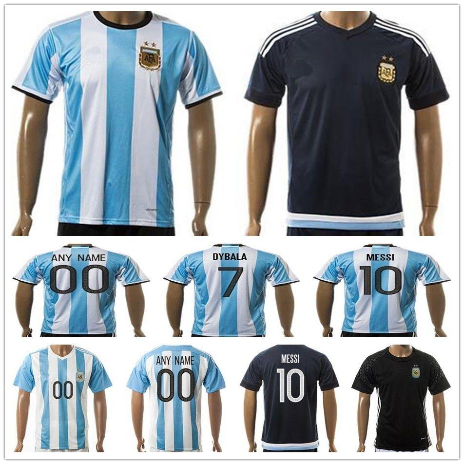 b65a37caf ... 2017 Argentina Soccer Jersey 10 Messi Di Maria Kun Aguero Maradona  Higuain Tevez Dybala Lavezzi Camisetas adidas Argentina Home ...