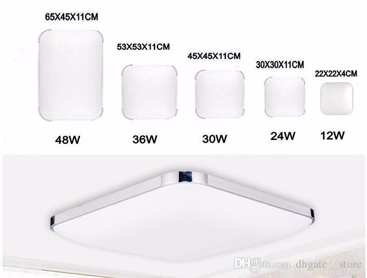 Plafoniera Led Quadrata 48w : Acquista plafoniere w cucina quadrata luce v