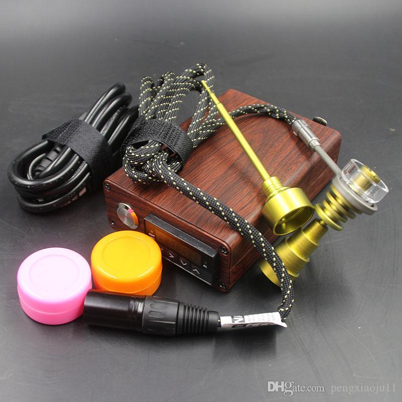 Free shippng best quality Cheap Smart D nail Dnail Kit Kavlar Coil PID TC DNail Titanium Nail Domeless Nail WAX
