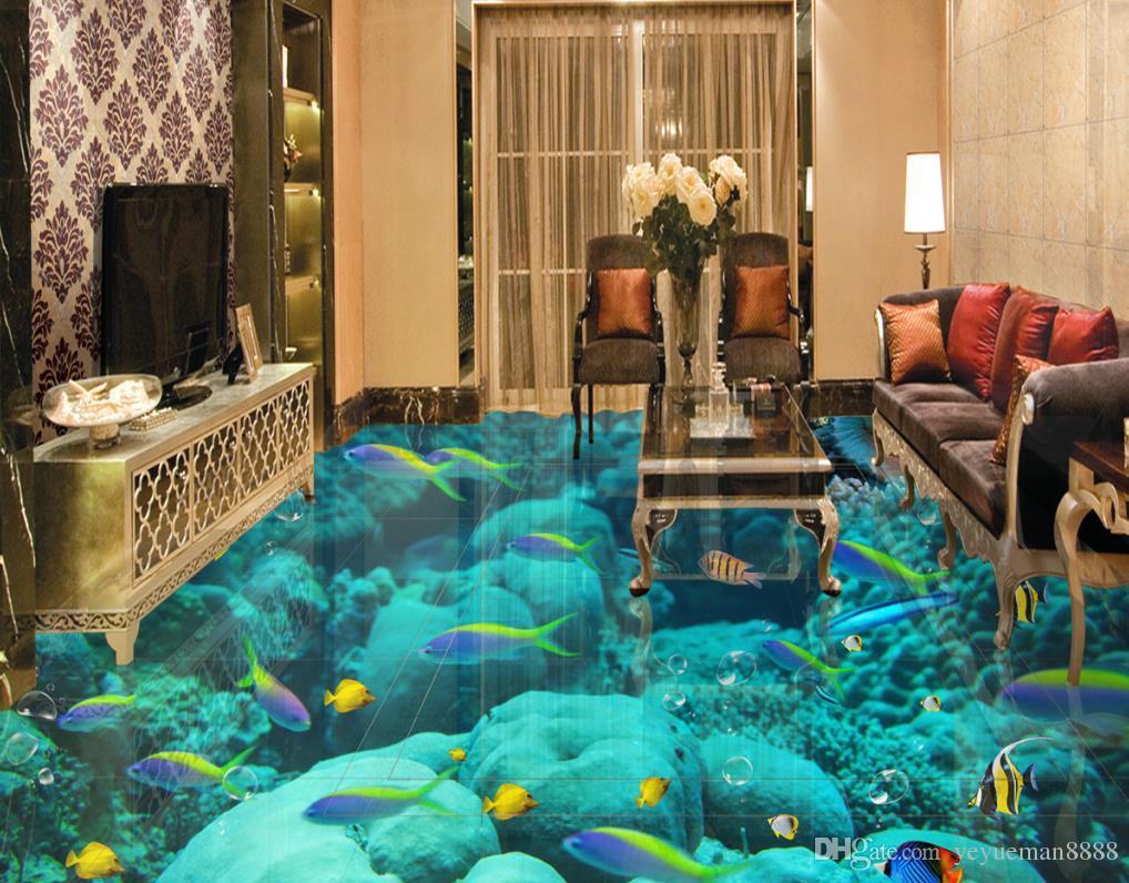 Fußboden Mit 3d Effekt ~ Großhandel d bodenbelag custom wallpaper landschaft für wände