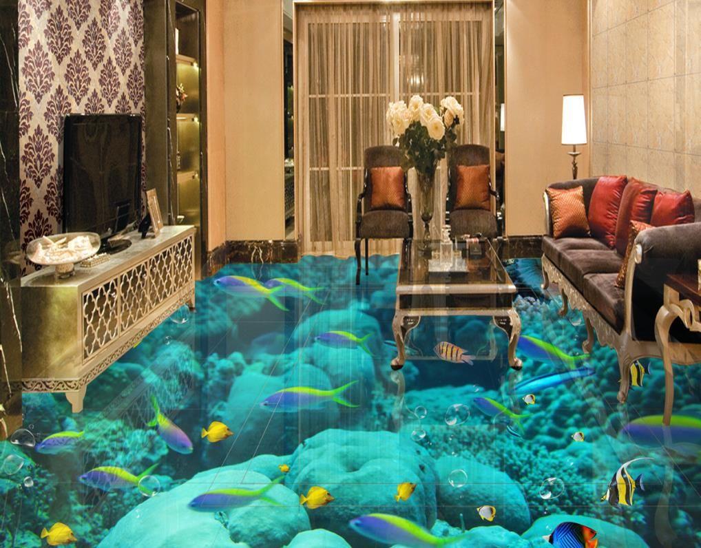 3d flooring custom wallpaper scenery for walls ocean world for 3d wallpaper for home floor