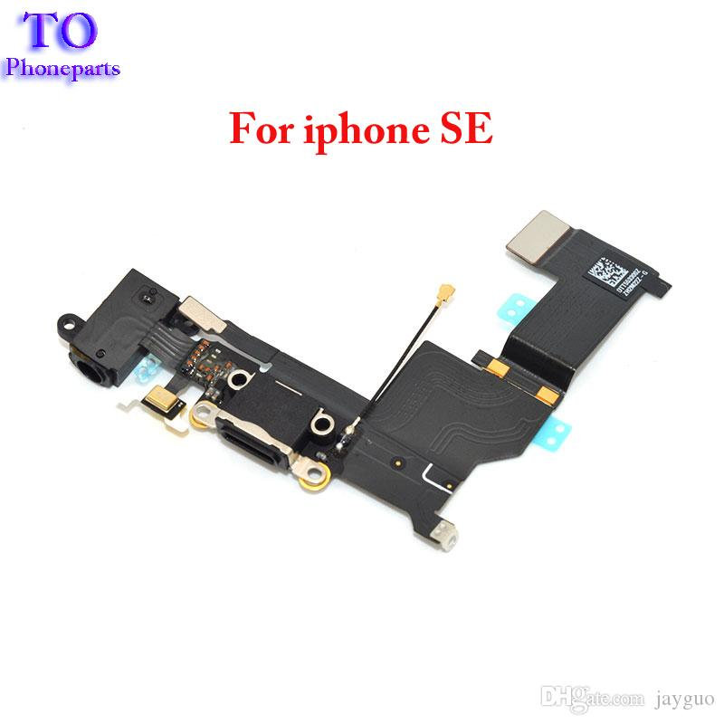 Wholesale New Charger Dock USB Charging Port Plug Flex Cable For Iphone 5SE SE With Headphone Jack Version