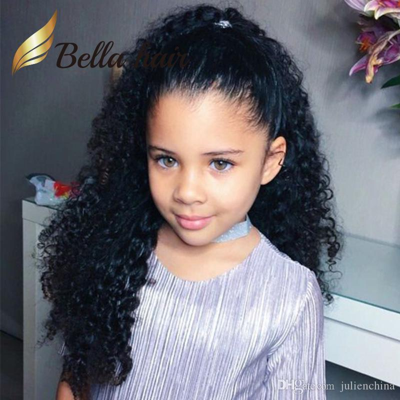 Cute Children Wigs Deep Curly 8 24inch Customized Small Cap Size