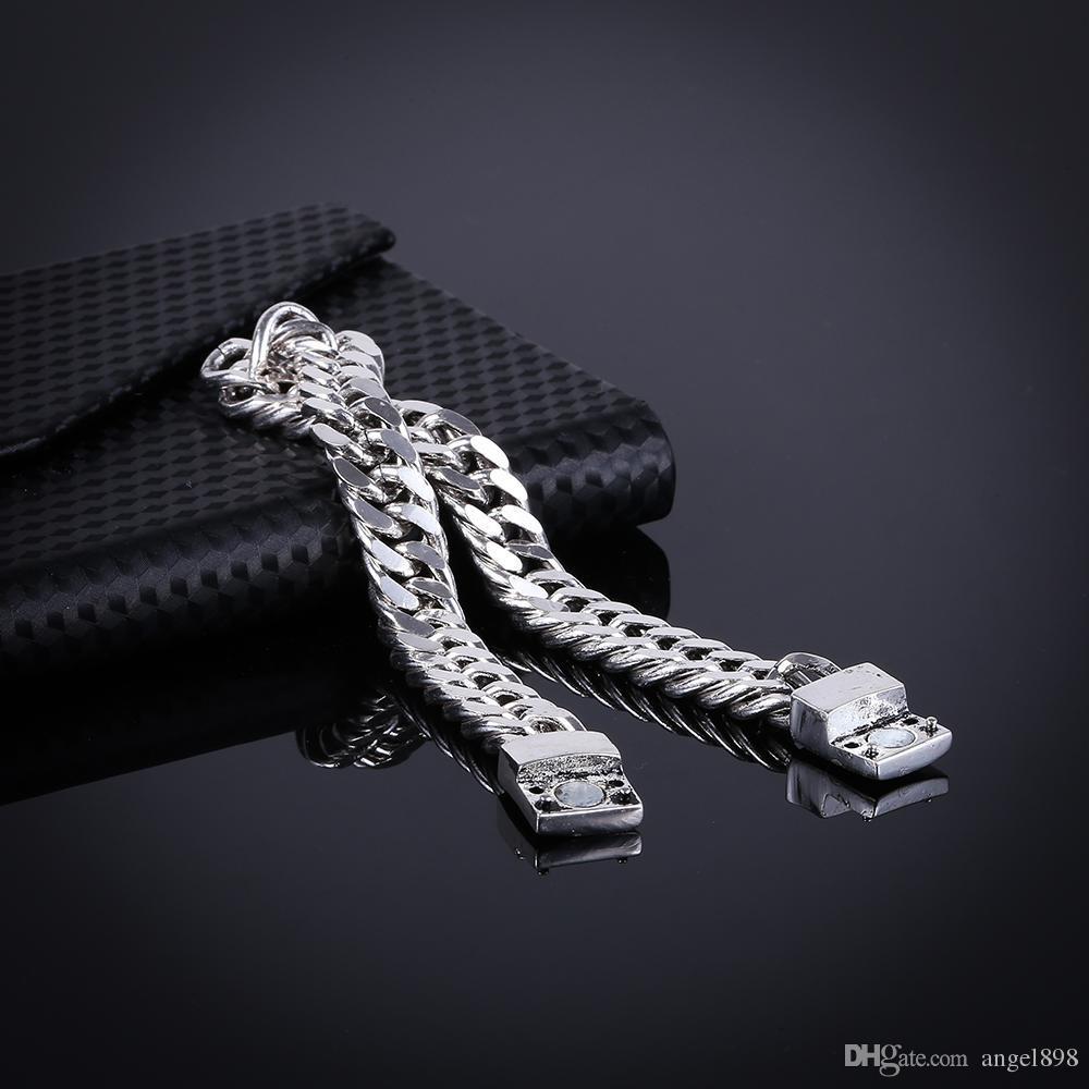 2018 vendita calda coppie all'ingrosso catena dell'osso del serpente moda creativo braccialetto d'argento antico inviare coppia inviare fidanzato