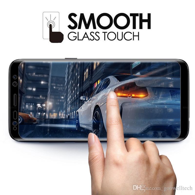 10 adet / grup 3D Tam Ekran Kapak Kavisli Temperli Cam Samsung Galaxy S8 S8 Artı Ekran Koruyucu Film