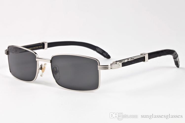 30b7709b23 2018 Brand Sunglasses For Men Women Designer Sunglasses Full Rimless Square  A Variety Of Color Lenses Buffalo Horn Wood Sun Glasses Mirrored Sunglasses  ...
