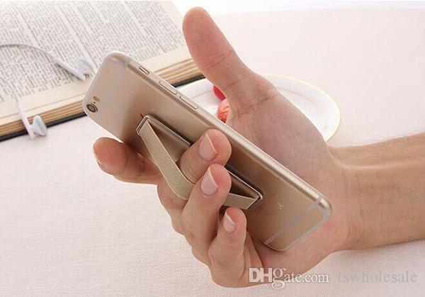 Toptan 2 in 1 Parmak Kavrama Elastik Bant Kayış Evrensel Telefon Tutucu Apple Telefonu Samsung Akıllı Telefonlar Tabletler için Standı ile