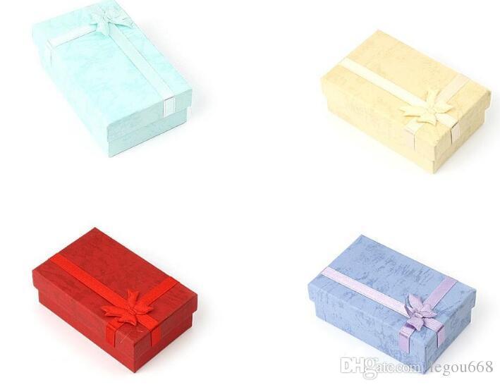 ألوان متنوعة مجموعات المجوهرات عرض مربع قلادة أقراط الطوق مربع 5 * 8 تغليف علبة هدية شحن مجاني G191