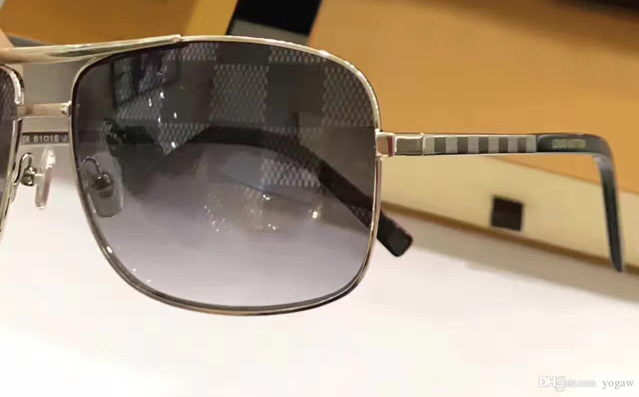 Classic Men Vintage Attitude Gold Brown Sunglasses Square Frame Fashion vintage sunglasses new with box