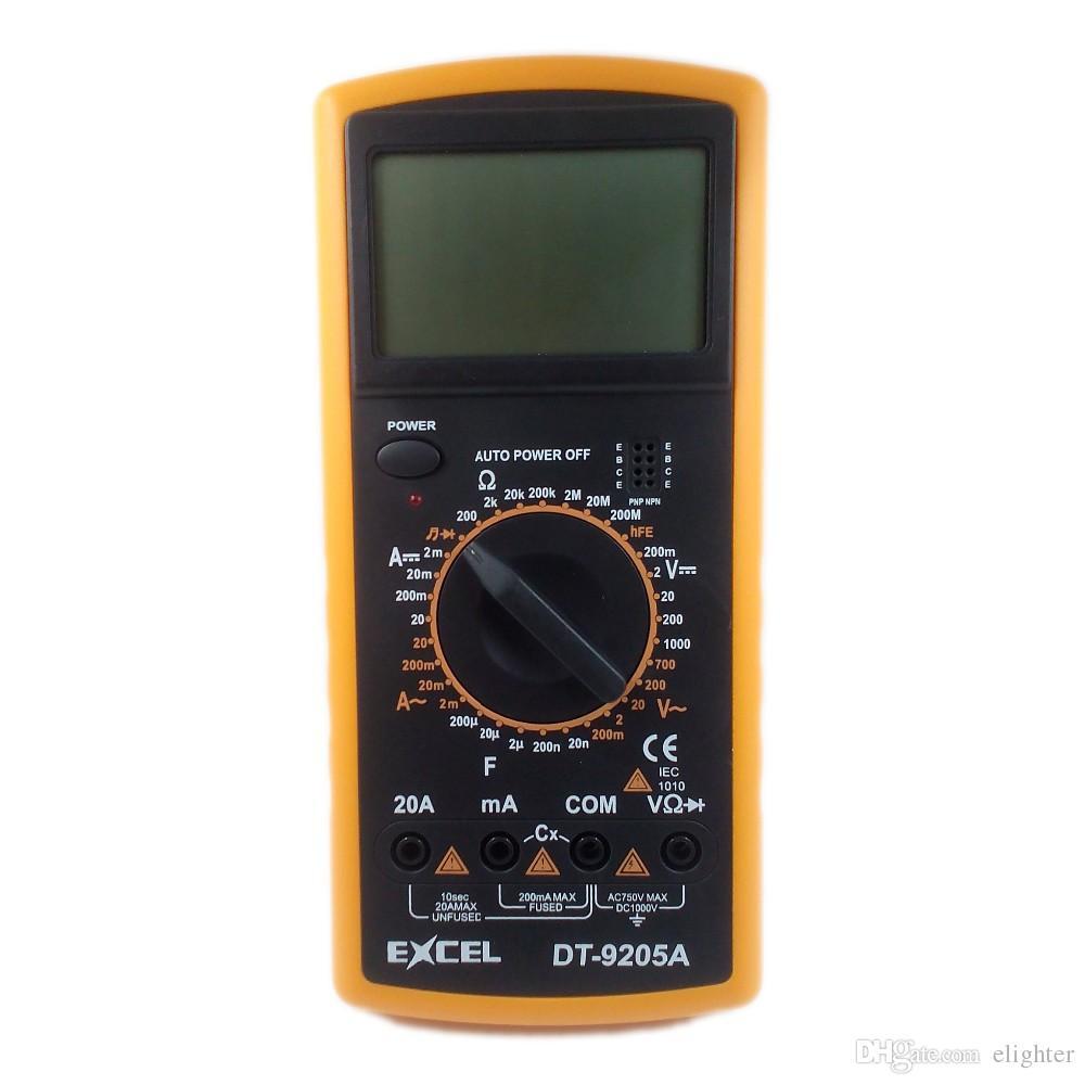 Цифровой мультиметр мультиметр EXCEL DT9205A ЖК-дисплей AC DC Амперметр вольтметр емкость сопротивление частоты тестер метр Multitester