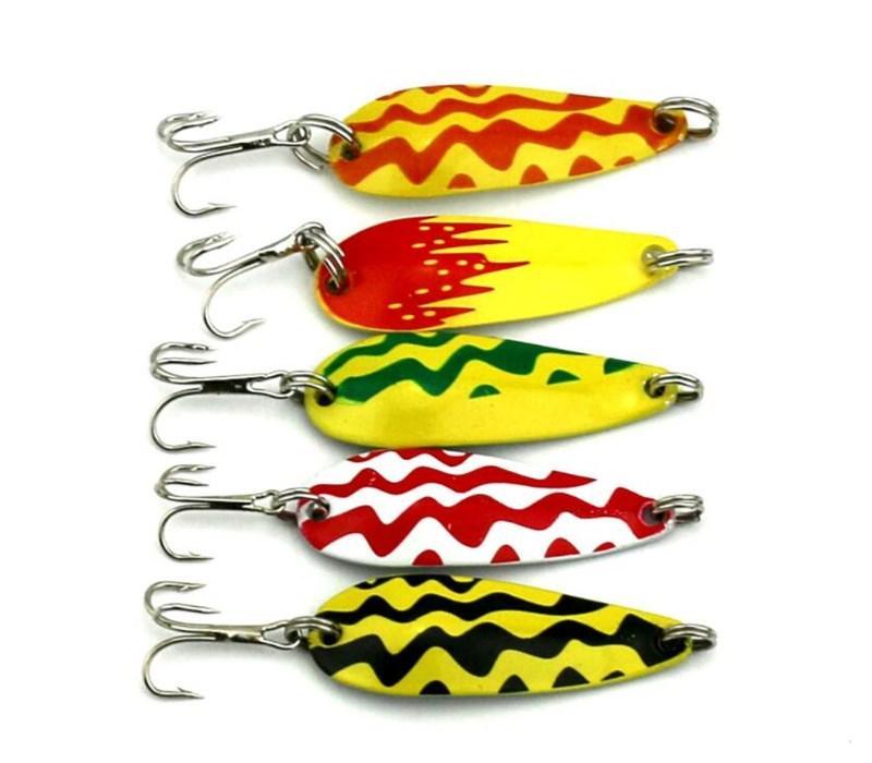 Multicoloured Jigging Spoon Lure 4.3CM 6 Gram Metal Spoon Fishing Baits of Fly Fishing Gear Accessories