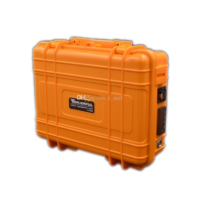 DHL free Pelican Case D electric Nail kit E digital Nails heater Coil PID box with Copper plating water pipe oil rigs