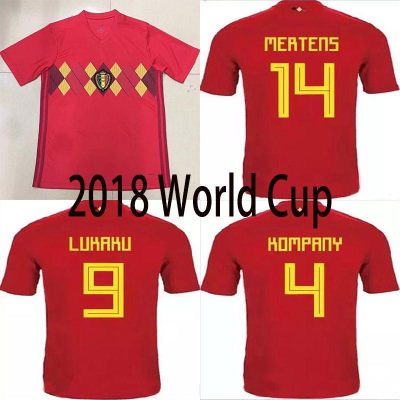 807790a6419 2019 Top Thai Quality 2018 World Cup Belgium National Team Soccer Jersey  LUKAKU FELLAINI E HAZARD NAINGGOLAN DE BRUYNE Football Jersey From  Rlai278831564
