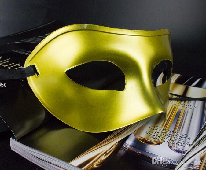 Men's Masquerade Mask Fancy Dress Venetian Masks Masquerade Plastic Half Venetian Mask Face Masks for Men Optional Multi-color