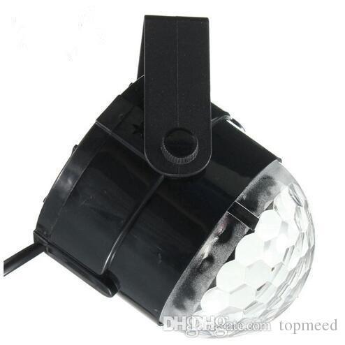 Mini RGB LED Crystal Magic Ball Stage Effect Lighting Lamp Party Disco Club DJ Bar Light Show 100-240V US Plug