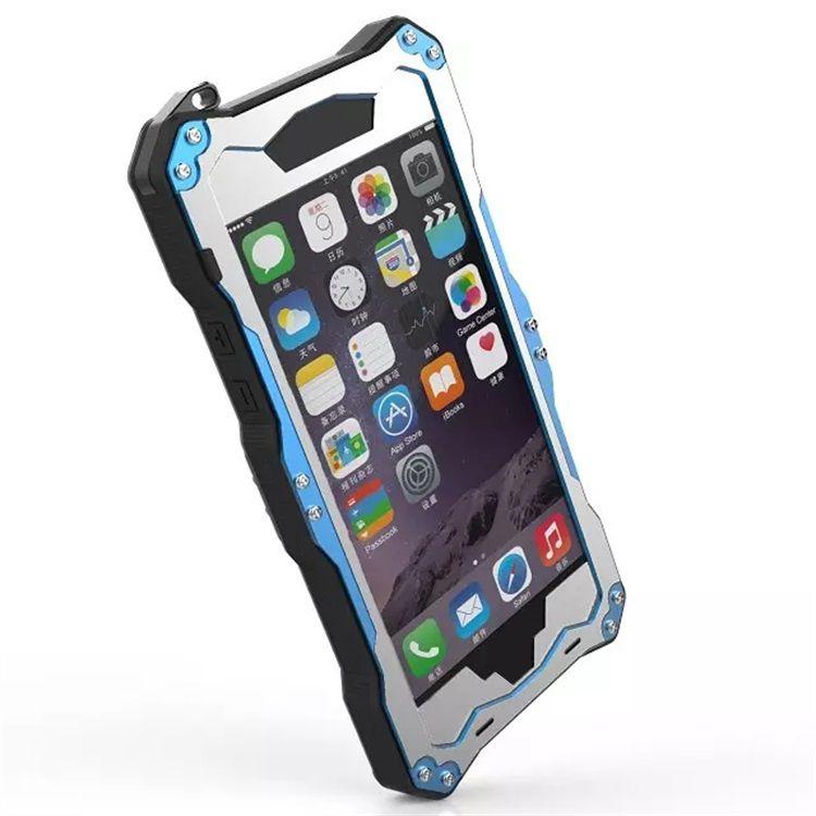 New R-JUST Case For iphone 6 6S 6S plus Snowproof Shockproof Waterproof Dirtproof Lunatic Shockproof Aluminum Gorilla Glass Metal Case Cover