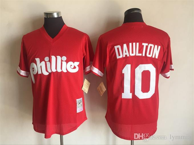 c94f4be4a ... Authentic Batting Practice Jersey 10 Darren Daulton 2017 New Mens  Philadelphia Phillies Red Cooperstown Collection Throwback MLB Baseball  Jersey Free ...