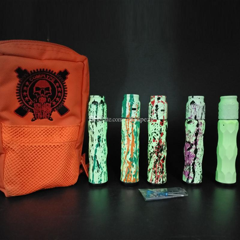Más nuevo AV Complyfe Luminous Kit E Cigarette AV Mech Mod Luminous Effects Avid Lyfe Mechanical Mod y Battle RDA DHL gratis