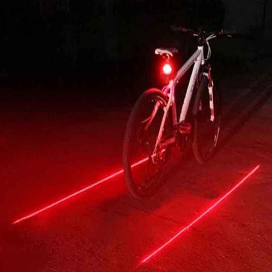 b4c4b255b Acquista 2016 Vendita Calda Bicicletta LED Luce 2 Laser Notte Mountain Bike  Fanale Posteriore Fanale Posteriore MTB Sicurezza Avvertimento Biciclette  Luci ...