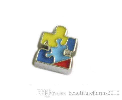 Autism Awareness Floating Locket Charms Fit For Living Glass Magnetic Memory Locket Fashion Jewelry