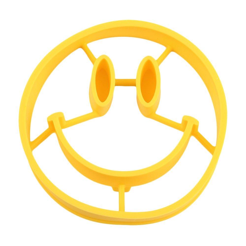 Lächelngesicht Ei-Form-Omelett-Form-Silikon-Ei-Ring, der Eier kocht, bearbeitet Küchengeräte