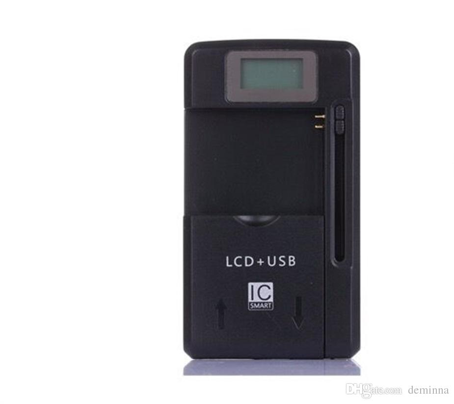 Universal LCD Screen USB AC Phone Battery Li-ion Home Wall Dock Travel Charger Samsung Galaxy S3 S4 S5 Note 4 Nokia, Huawei Cellphone
