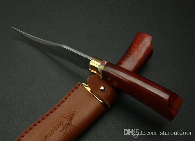 السرعوف m2 مطلق النار الثابتة نصل السكين مرآة بليد الخشب مقبض 7cr17 59hrc التكتيكي التخييم الصيد بقاء سكين هدية أدوات edc مجموعة