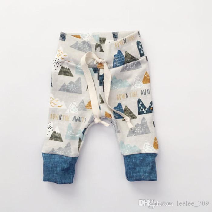 2017 neugeborene ins 3 stücke kleidung sets frühling herbst baby mädchen jungen langarm-shirt + hose + hut casual outfit size70-100 niedlichen anzug