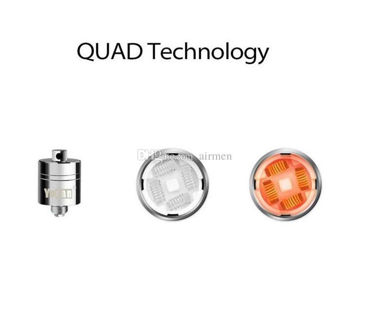 Original Yocan Evolve Plus XL Wax QUAD Coil Quatz Rod Replacemen Coils Head With Coil Cap For Evolve Plus XL Dab Pen Kit 100% Genuine