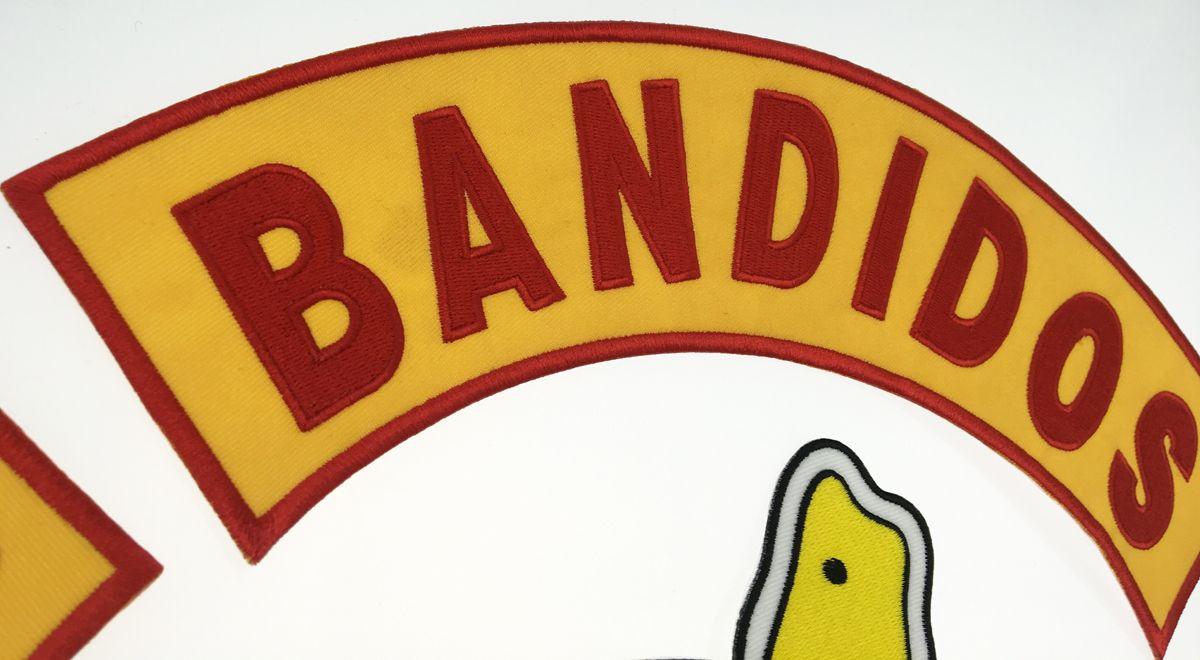 Vente chaude Mixte Ensemble Complet Pour Bandidos MC Patch Brodé Fer Sur Veste En Cuir Veste Rider Punk Full Back Taille Patch