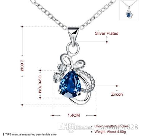 2017 New Design, Amythest Pendant Necklace,925 Elegant ladies necklace Sterling Silver Platinum Plated,Top Quality Jewelry