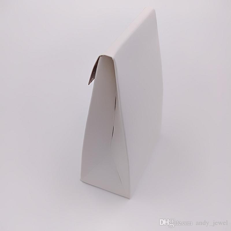 الجملة المتأنق عالية الجودة البسيطة صناديق الورق الأبيض هدية مربع 9 * 6 * 3 سنتيمتر ل باندورا نمط مجوهرات سحر الخرز خواتم تغليف أكياس