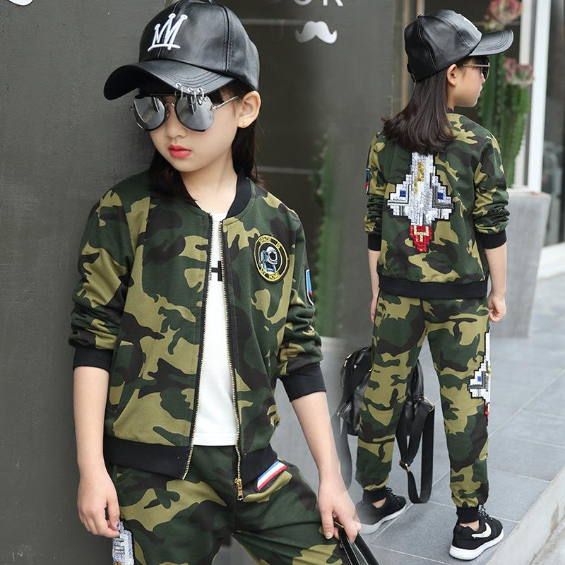 13b4639302a3a Children clothing sets autumn teenage for boys sport suit camouflage school  kids clothes tracksuit for girls clothes 12 years