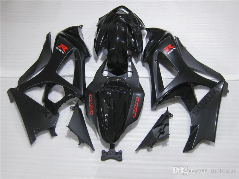 100% carenados de moldes de inyección para Suzuki GSXR1000 05 06 negro carenado GSXR1000 2005 2006 OT35