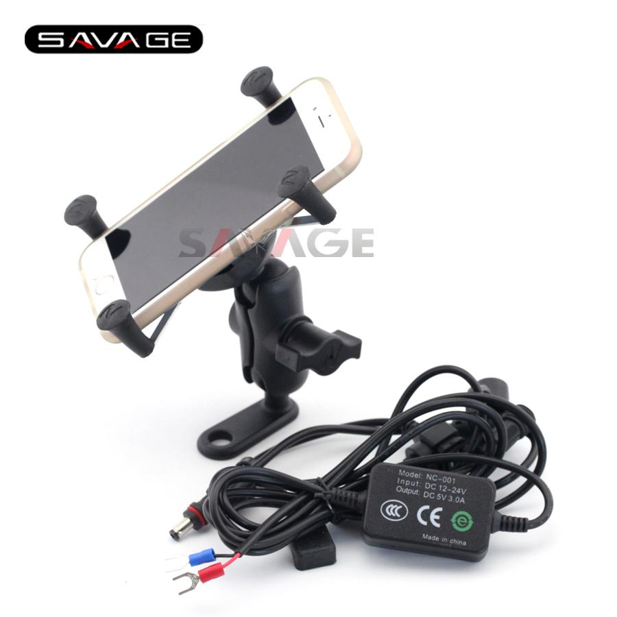 For BMW F650GS F700GS F800GS F800GT F800R Motorcycle Navigation Frame Mobile Phone Mount Bracket with USB charger