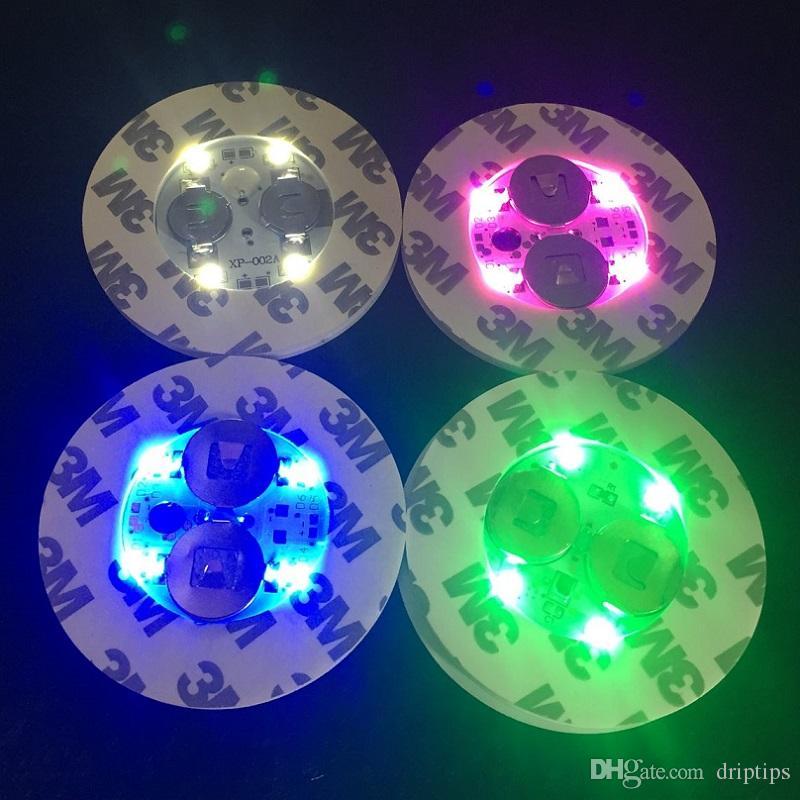 Свет Сид для стеклянного основания Бонга вел свет 7 цветов автоматического регулирования в запасе над 100ПКС свободным ДХЛ