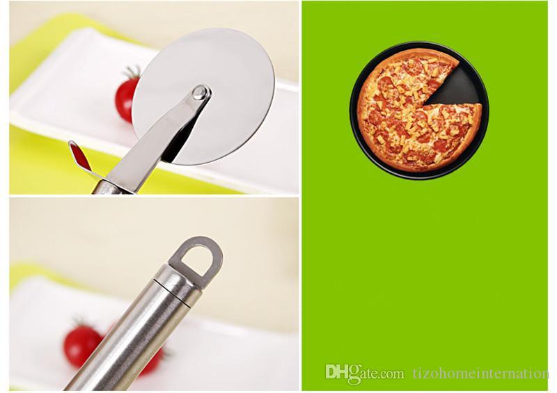 PizzaWheels 스테인레스 스틸 피자 커터 지름 6.5 커팅 피자 도구 용 CM 칼 주방 액세서리 피자 도구