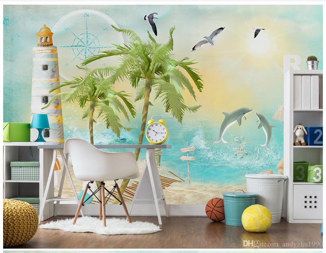 3d Photo Wallpaper Custom 3d Wall Murals Wallpaper Mural Beach