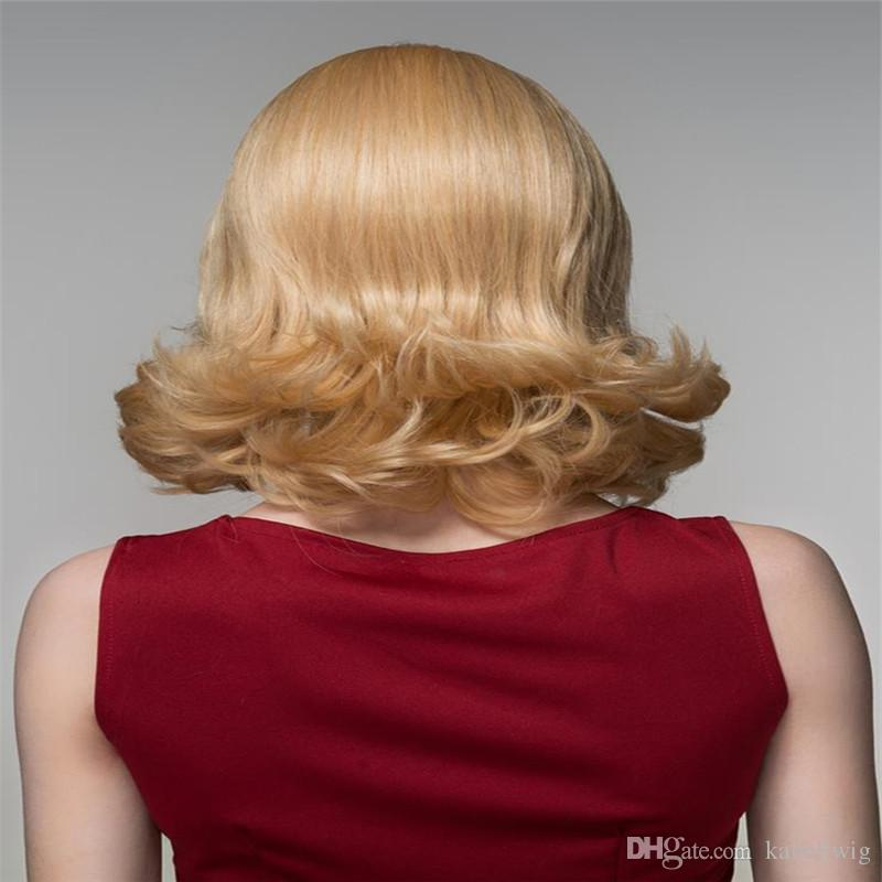 # 613 Straight Blond Wig Is Full Of My Shoes And Half Baby Immediately The Brazilian Virgin Hair 100% Silk Human Hair Wig Is Full Lace Wig
