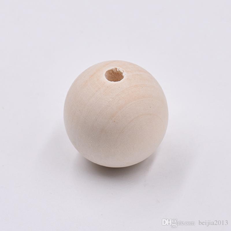 Caps de perles Perles d'entretoise en bois rond 17mm-18mm