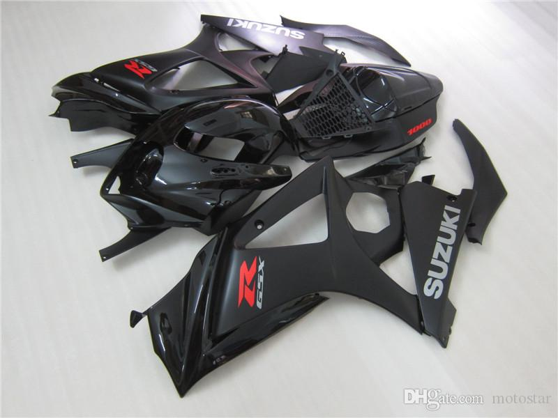 Kit de carenado del molde de la venta caliente para carenados negros Suzuki GSXR1000 2007 GSXR1000 07 08 OT51