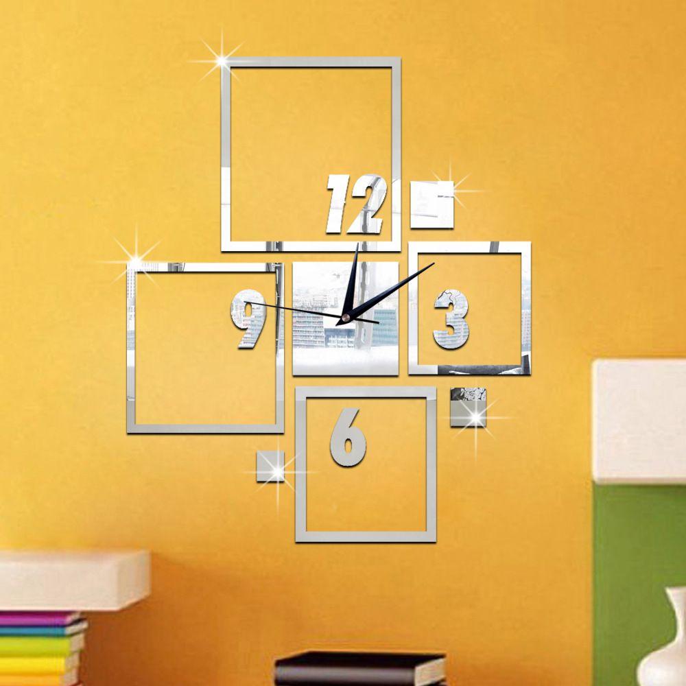 Wholesale New Creative Diy 3d Wall Clock Sitting Room Bedroom Mute ...