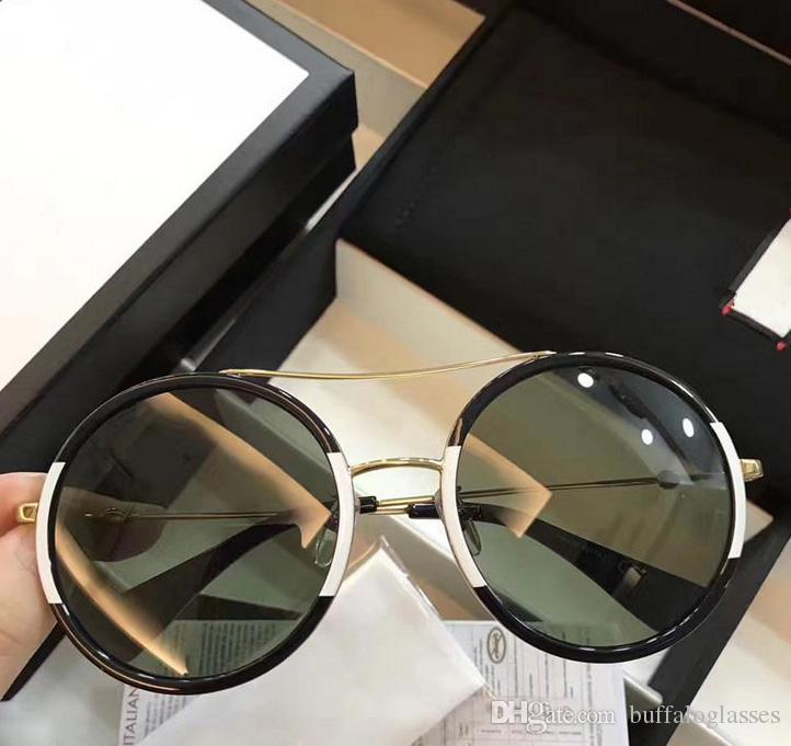 77cf362334 Luxury Round Sunglasses For Women Brand Sun Glasses 0061 Fashion Full Frame  G0061 Mixed Color Frame UV Protection Lens Come With Box Sunglasses Sale  Kids ...