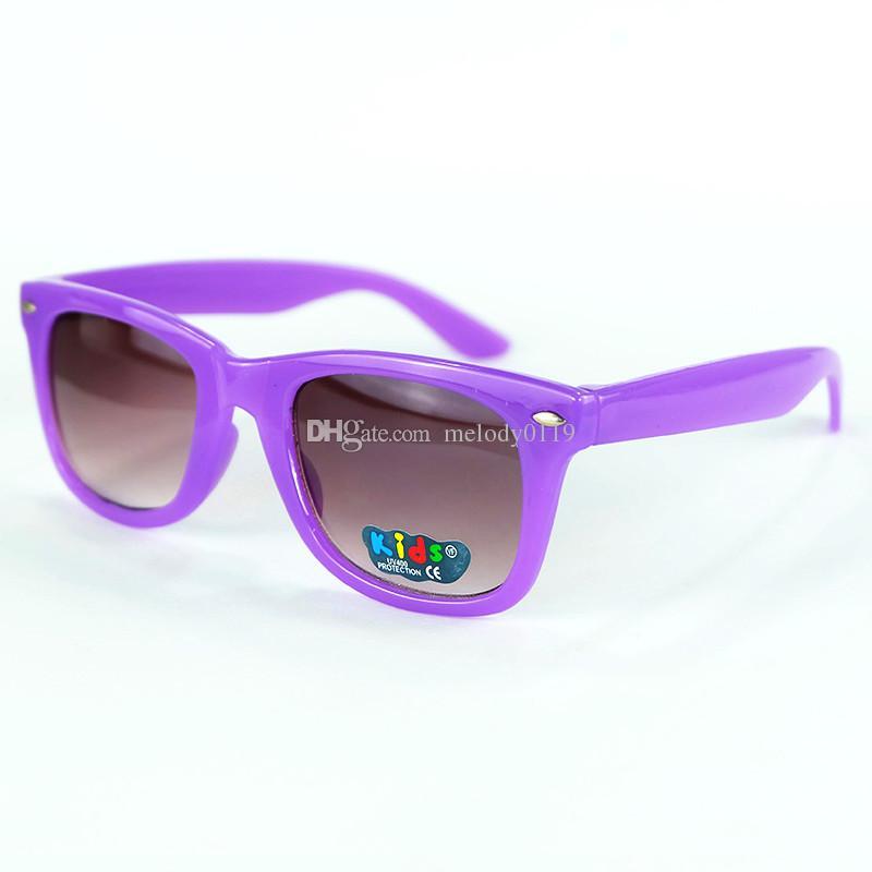 New Retro Kids Rivets Eyeglasses Children Sunglasses Baby Boys Girs Eyewear Cool Classic Glasses Goggles Candy Frame Colors KL888