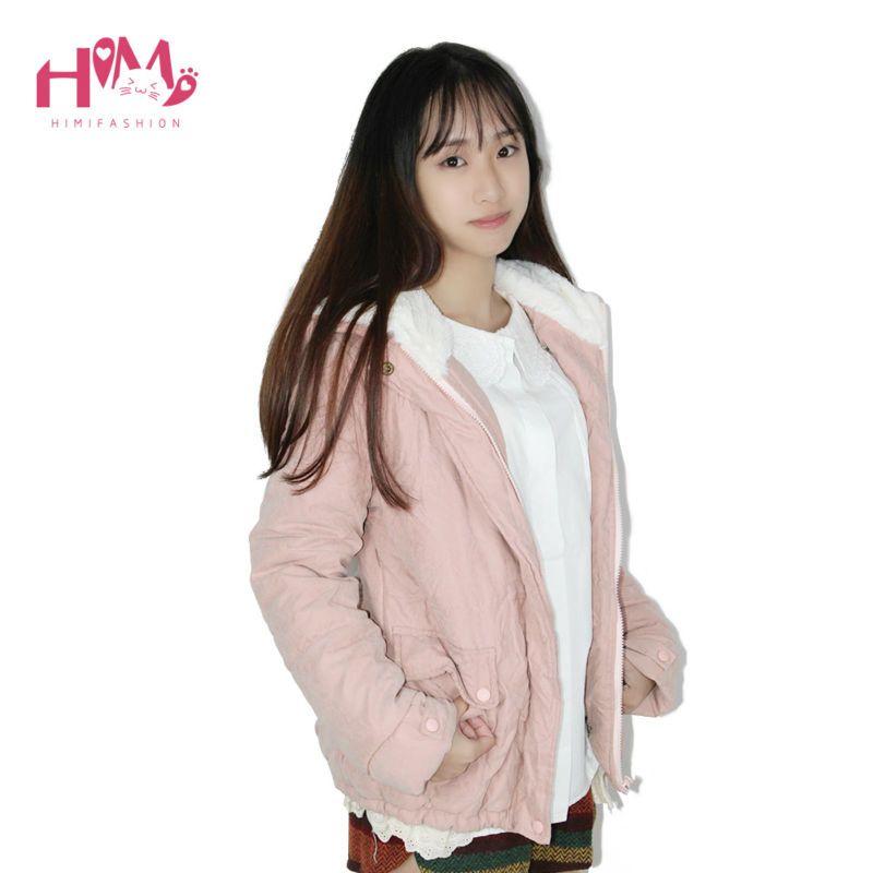 Wholesale Japanese Winter Coat Mori Girl Short Student Cotton ...
