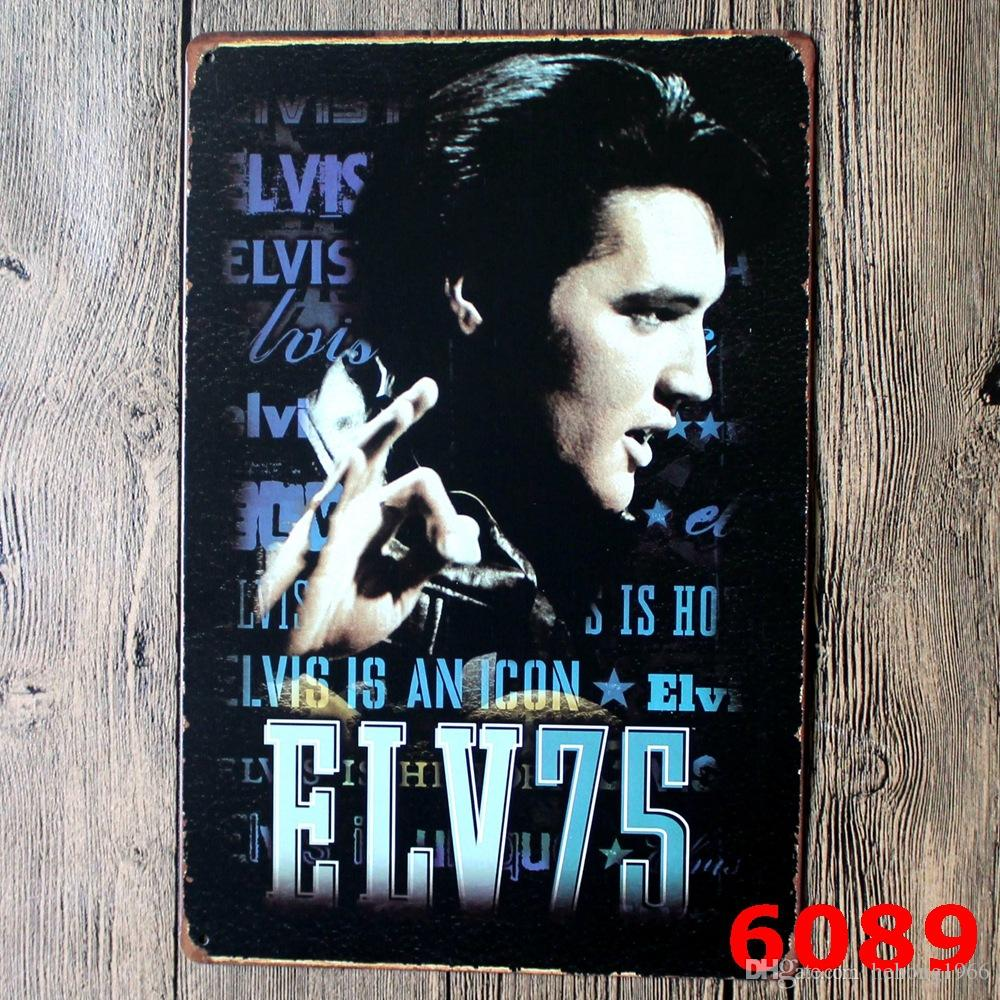 20*30cm Metal Tin Sign Elvis Presley Europe Singing Star Iron Painting Jailhouse Rock Tin Poster For Home Wall Art Decoration 3 99rjM KK