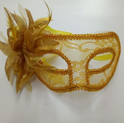 Sexy Preto branco vermelho amarelo roxo Mulheres Em Veneza Venetian Masquerade Máscaras para uma bola mascarada Lace Flor Máscaras 5 cores livre shippi