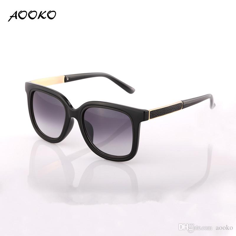 b2ceb91ac0 AOOKO 7830 2017 Fashion Sunglasses Women Luxury Brand Designer Vintage Sun  Glasses Female Rivet Shades Big Frame Style Eyewear UV400 Cheap Prescription  ...