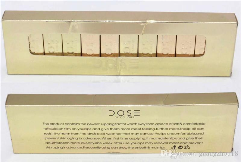 2018 DOSE DE COULEURS LIQUIDE MAT LIPSTICK GOLD Limited Edition Set Imperméable À Lèvres Brillant 12 Couleurs Marque Nouveau guangzhou18