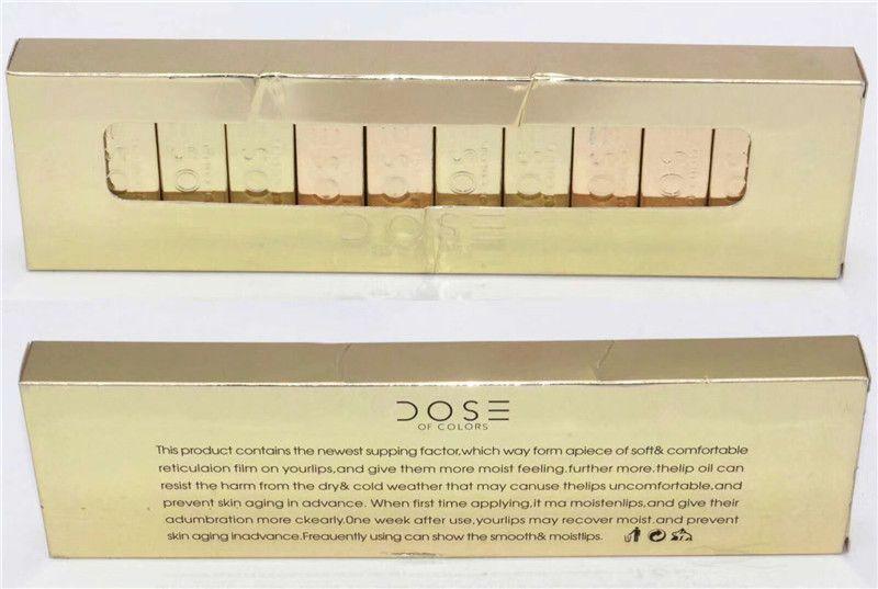 2018 DOSE DER FARBEN FLÜSSIG MATTE LIPPENSTIFT GOLD Begrenzte Ausgabe stellte wasserdichten Lippenglanz 12 Farben ein Nagelneue guangzhou18